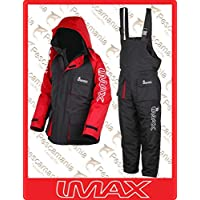 IMAX–Chándal térmica para pesca de playa (2unidades), negro - negro, XL
