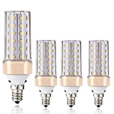 E14-LED-Leuchtmittel, ILAMIQI 10 W LED Kerzenleuchter, entspricht 100 Watt, 1200 lm, dekorativer Kerzensockel, E12 Mais, Dimmbar Leuchtmittel, LED Kronleuchter, Warmweiß 3000 K LED-Lampe, 4 Stück