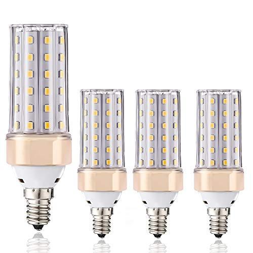 E14-LED-Leuchtmittel, ILAMIQI 10 W LED Kerzenleuchter, entspricht 100 Watt, 1200 lm, dekorativer Kerzensockel, E12 Mais, dimmbar, LED Kronleuchter, Warmweiß 3000 K LED-Lampe, 4 Stück -