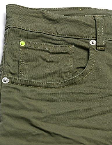 Replay Wa611 .000.8055180 - Short - Femme Vert - Grün (MILITARY GREEN 40)