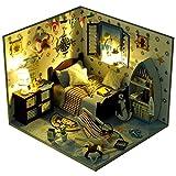 DIY Dollhouse Miniature Kit Kreativer Valentinstag, Geburtstag Geschenk Handwerk montiert Diy Hütte Modell Kinder pädagogisches Spielzeug Mini Diorama Haus Renovierung DIY Dollhouse - kreatives Weihna