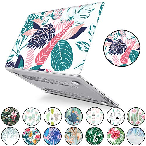PapyHall Tropical Palm Leaves Druck Hartplastik Hülle für MacBook 12 Zoll mit Retina Display A1534 White Palm Leaves