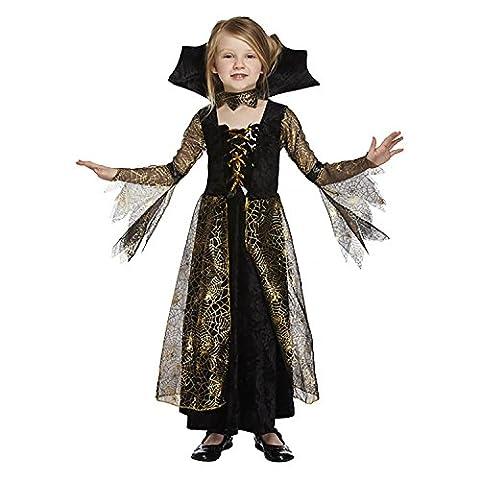 Spinnenkönigin Kostüm für Kinder