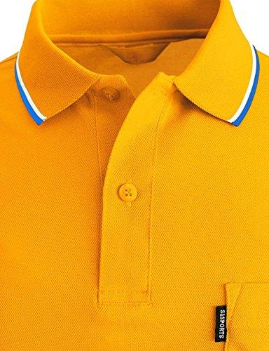 BCPOLO Männer Poloshirt Dri Fit Short Sleeve Grund Polo Shirts Yellow