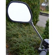 DWT-Germany Set di 2 specchietti retrovisori per biciclette, bici elettriche, mountain bike, bici da corsa, bici da strada, con braccio (nero)–universali, per manubrio–1coppia per scooter, motorini, sedie a rotelle, deambulatori, passeggini, carrelli da golf