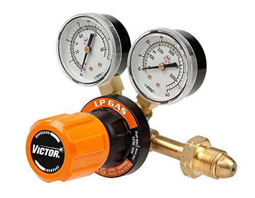 Victor Technologies 0781-9410 G250-60-510LP Medium Duty Single Stage L.P. Gas Regulator, 60 psig Delivery Range, CGA 510 Inlet Connection by ESAB -