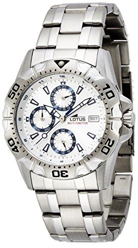 Lotus Reloj Analógico para Hombre de Cuarzo con Correa en Acero Inoxidable A2288