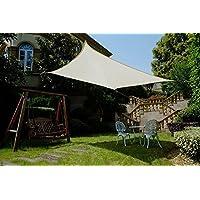 Cool Area Toldo vela de sombra cuadrado 3.6 x 3.6 metros protección rayos UV, resistente y transpirable (varios colores y medidas), Color crema
