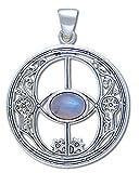 Alterras - Anhänger: Avalon Symbol mit Mondstein aus 925-Silber
