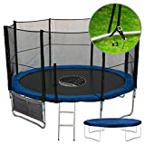 Kanga 12ft Premium Trampoline with Safety Enclosure, Net, Ladder, Anchor Kit, Shoe Bag & Winter Cover (12ft)