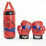 SSRS Kinderhandschuhe Spider-Man Avengers Boxhandschuhe Dekompressionsspielzeug (Farbe : Blau)