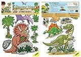FunToSee Wandsticker Dinosaurier, 12 Stück
