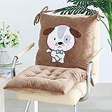 ABBLLWS Chair Cushion, Set Chair Cushion Thickening Student Seat Cushion Back,Bow Tie Dog