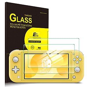 ELTD Displayschutz für Nintendo Switch Lite, Rounded Corners 2.5D, 9H Härte, gehärtetes Displayfolie Schutzglas für Nintendo Switch Lite 2019 (2 Stück)