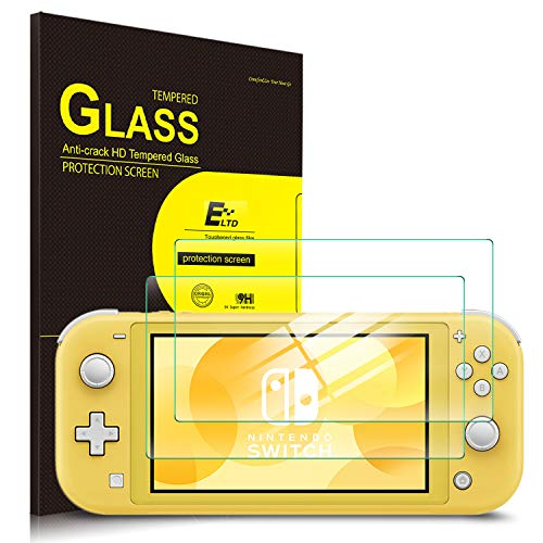 ELTD Protection écran pour Nintendo Switch Lite, 9H, 2.5D Verre Trempé Film Protection d'écran pour Nintendo Switch Lite Tablette, (2-Pack)