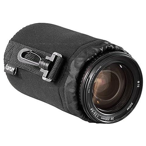 Hama Objektivbeutel, Neopren, Größe M, u.a. passend für Objektive von Herstellern wie Nikon, Canon, Olympus, Panasonic, Sony, Sigma, Tamron, Leica