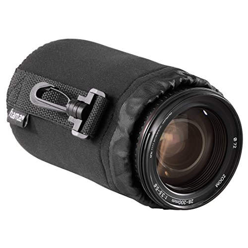 Hama Objektivbeutel, Neopren, Größe M, u.a. passend für Objektive von Herstellern wie Nikon, Canon, Olympus, Panasonic, Sony, Sigma, Tamron, Leica etc.