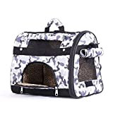 BELLAMORE GIFT Transporttasche Hundetasche Tragetasche für 0.5-1.5kg Hunde und Katzen Katzentasche Hundebox 43 * 23 * 29cm PC24