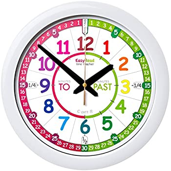 easyread time teacher children 39 s wall clock with simple 3. Black Bedroom Furniture Sets. Home Design Ideas