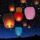 Generic 10 PCS Chinese Lantern Sky Lanterns Wish Flying Lanterns Multicolor Paper Lantern Balloon Birthday Wedding Party Decoration