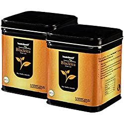 Healthbuddy premium Darjeeling Black Tea Whole leaf 2 packs of 100 gms each