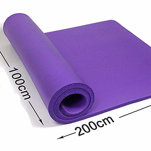 GTVERNH-púrpura Double-Thick esterilla de yoga 10mm 15mm 20mm largo de 2 m de ancho 1 m de la estera del yoga: sólo tiene stoke Fitness