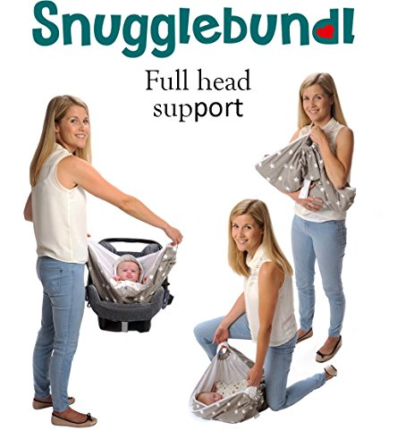 Snugglebundl The Baby Blanket with Handles (Grey Star)