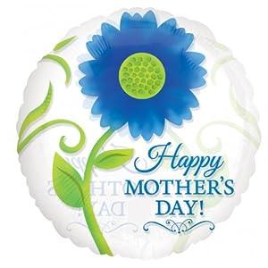 "Amscan International-2383601""día de la madre azul pétalos estándar Magicolor"" Foil Balloon"