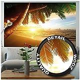 Great Art Poster Spiaggia Tramonto Quadro Murale Decorazione Sole Estate Caraibi Paesaggio Mare Natura Beach Sunset Vacanze da Sogno - Poster da Parete Decorazione da Parete by (140 x 100 cm)