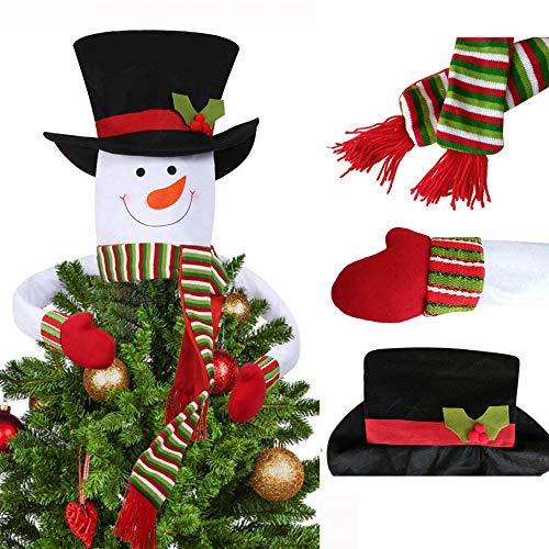 spitze Schneemann Hugger mit Hut, Schal und beweglichen Armen für Weihnachten, Urlaub, Winter, Party-Dekoration Large ()