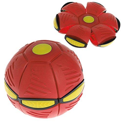 O-Flacher Wurfs-Disketten-Ball Mit LED-Licht-Spielzeug-Kind-Garten-Strand-Spiel Im Freien ()