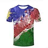 qianyishop Mens 3D Printed Colorful Splatter Paint Graphic Couple T-Shirts