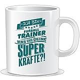 getshirts - RAHMENLOS® Geschenke - Tasse - Superpower Fussball Trainer - petrol - uni uni