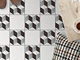 creatisto Fliesenbelag | Design-Dekorsticker Küchenfolie Bad-Fliesen Badgestaltung | 20x20 cm Muster Ornament 3D Marmor Cubes - 9 Stück