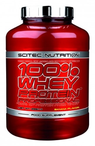 Scitec Nutrition 100{a508f0c4436fc9007cfc3914cff53d34030d0a8ec30409e872a9b12be9a4f931} Whey Protein Professional 2350 g Banane