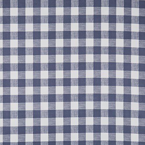 Vinylla Carreaux Vichy Bleu marine avec revêtement vinyle Coton Nappe en toile cirée facile à nettoyer, bleu, Round(Dia.140 cm)