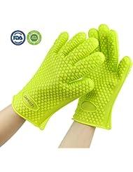 Denkich guantes de silicona resistente al calor para barbacoa mitones del horno para asar, hornear, agarradores de cocina