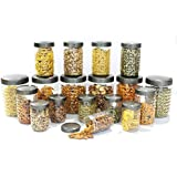 Princeware Iris Plastic Container Set, 18-Pieces, Transparent (L5384-18PL)