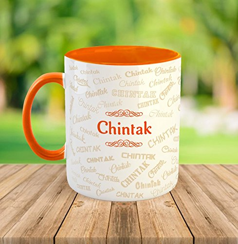 FurnishFantasy™ Ceramic Mug - My name is chintak  available at amazon for Rs.349