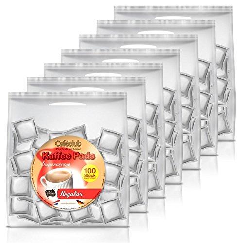 7x Cafeclub Regular Kaffeepads Megabeutel je 100 stk. normale Röstung einzeln verpackt