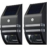 VicTsing 2 unidades de Luz Lampara led de solar, sensor Movimiento automático, super brillante LED en pared Path Accent / Luz de seguridad para escalera, paso, Jardín, Patio, Pared, Drive Camino