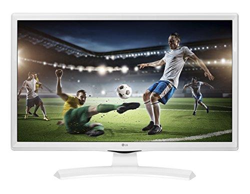 LG 28TK41 Monitor TV 28' LED HD, DVB/T2/S2 0V-WZ, Ottimo per Camera da Letto, Bianco