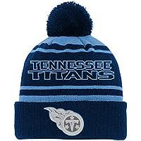 san francisco 157a0 9f234 NFL by Outerstuff Boys  NFL Youth Reflective Cuff Knit Pom Hat, Dark Navy,