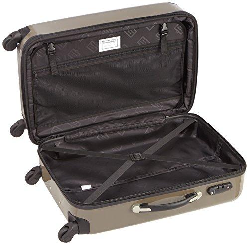 HAUPTSTADTKOFFER - Alex - 2er Koffer-Set Hartschale glänzend, TSA, 65 cm + 55 cm, 74 Liter + 42 Liter, Orange-Aubergine Titan