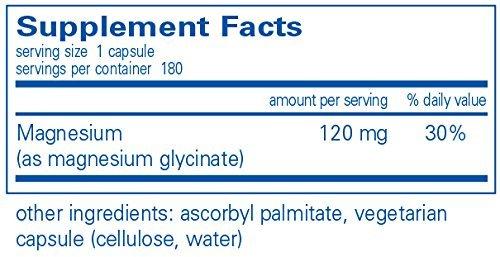Pure Encapsulations – Magnesium (Glycinate) 120 Mg 180 Vcaps