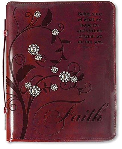 Divinity Boutique Kunstleder Bibel Schutzhülle mit Griff Large Hebrews 11:1