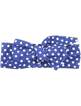CAOLATOR Niño Banda de cabeza de Bebe Tocado de Nudo Tela de Algodón Proa Cintas de Cabeza Niña(Azul Puntos 1)