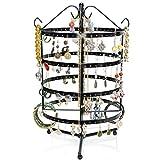 Schmuckständer Drehbar - Schwarz ca. 35 x 20 x 20 cm - Ohrring Schmuckhalter Aufbewahrung & Präsentation - Grinscard