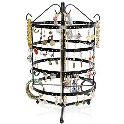 Espositore girevole gioielli - nero ca. 35 x 20 x 20 cm - organizer per raccogliere e presentare gioielli - grinscard