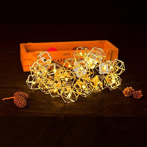 Solar Lichterkette, Hotchy Solar Lichterkette Außen 6 Meter 30 LED-Leuchten Warmweiße lichterketten IP65 wasserdicht für Party, Garten, Weihnachtsdekoration Christmas lights